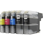 IBLC123P521C Multipack 5 cartuchos de tinta  Alternativo Brother NEGRO (x2) / CIAN (x1) / MAGENTA (x1) / AMARILLO (x1), reemplaza a PACK: LC123BKBP (x2) / LC123CBP (x1) / LC123MBP (x1) / LC123YBP  (x1)