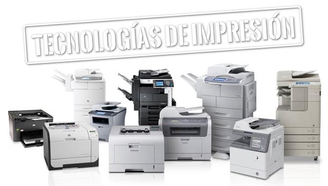 impresora, inkjet, laser, led, tecnología